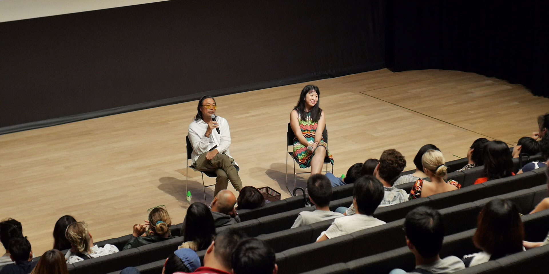 Rirkrit Tiravanija speaking at Summer Institute